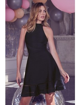 Abbey Clancy X Lipsy Fit And Flare Bandage Dress by Next