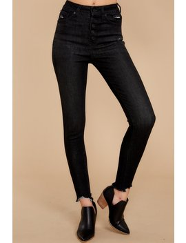 Advanced Basics Faded Black Skinny Jeans by Kan Can Premier