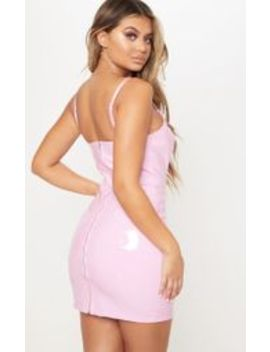Baby Pink  Pu Bodycon Dress by Prettylittlething