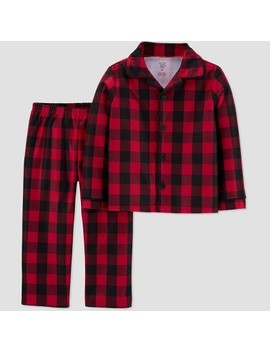 Toddler Boys' Buffalo Check & All Doors Coat Pajama Set   Just One You® Made By Carter's Red by Just One You Made By Carter's