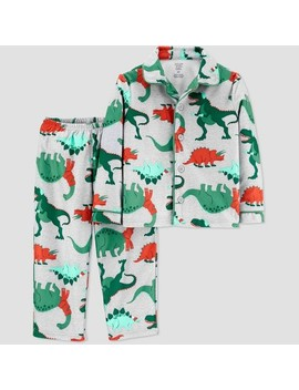 Toddler Boys' Dino Coat Pajama Set   Just One You® Made By Carter's Gray by Just One You Made By Carter's