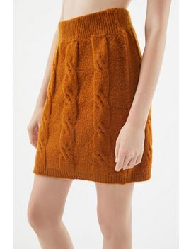 Uo Mercer Cable Knit Mini Skirt by Urban Outfitters