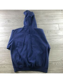 Champion Authentic Blue Cotton Hoodie Gym Sweatshirt Sz Men's Large by Champion