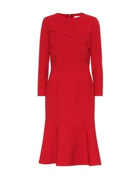 Stretch Wool Midi Dress by Oscar De La Renta