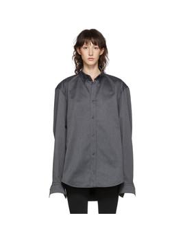 Grey Square Back Shirt by Balenciaga