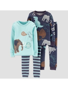 Toddler Boys' 4pc Wolly & Mammoth 100% Cotton Pajama Set   Just One You® Made By Carter's Blue by Just One You Made By Carter's