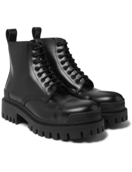 Strike Leather Boots by Balenciaga