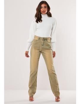 Sand Heavy Sandblast Wrath High Waisted Straight Leg Jeans by Missguided