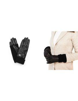 Soia &Amp; Kyo Carmel Black Leather Gloves   Medium by Soia & Kyo