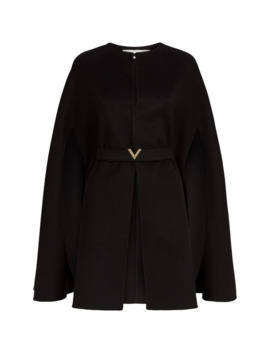 Wool Cashmere Belted Cape by Valentino