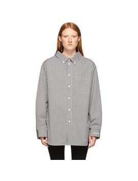 Black & White Swing Collar Shirt by Balenciaga