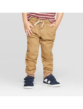 Toddler Boys' Pull On Pants   Cat & Jack™ Brown by Cat & Jack