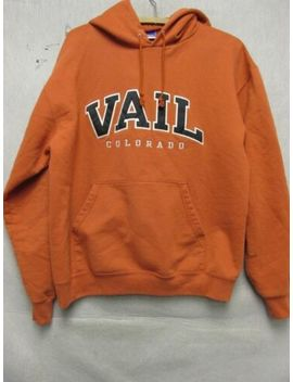 Z6460 Champion Orange Vale Colorado Long Sleeve Hoodie Size L. by Champion