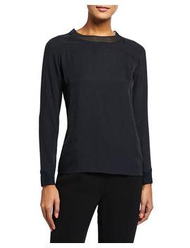 vince-rib-trim-long-sleeve-t-shirt by vince