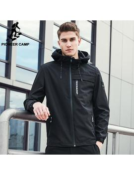 Pioneer Camp Jacket Men Windbreaker Autumn Winter Hooded Male Raincoat Soft Shell Bomber Jacket Techwear For Man Ajk707009 Mx190926 by D Hgate.Com