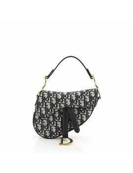 Christian Dior Saddle Handbag Oblique Canvas Mini by Christian Dior