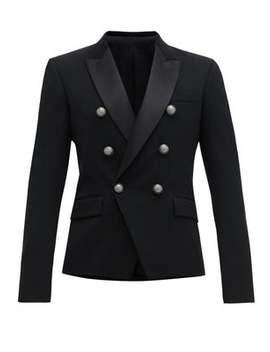 Double Breasted Wool Blend Blazer by Balmain