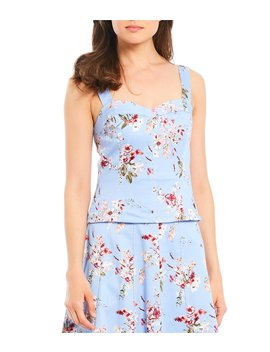 Mac Floral Print Sleeveless Blouse by Antonio Melani