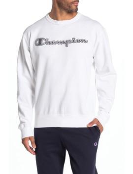 Powerblend Applique Crew Neck Sweatshirt by Champion