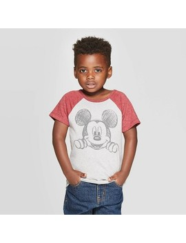 Toddler Boys' Disney Mickey Mouse Short Sleeve T Shirt   Burgundy by Disney