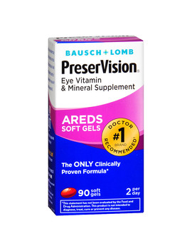 Bausch + Lomb Preser Vision Areds Eye Vitamin & Mineral Supplement Soft Gels90.0ea by Walgreens