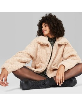 "<Span><Span>Women's Long Sleeve Oversized Zip Up Sherpa Faux</Span><Br><Span>Fur Jacket   Wild Fable</Span></Span><Span Style=""Position: Fixed; Visibility: Hidden; Top: 0px; Left: 0px;"">…</Span> by Up Sherpa Faux Fur Jacket"
