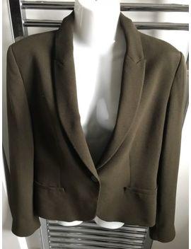 "Ladies Zara Basics Dark Olive Green Jacket (Size 36"" Bust) by Zara"