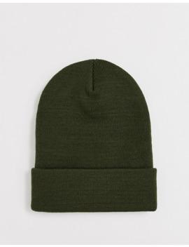Dickies Yonkers Beanie Hat In Olive Green by Dickies
