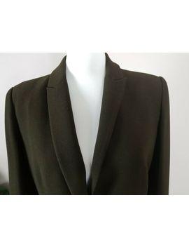 Zara Khaki Army Camo Moss Green Single Breasted Blazer Jacket Size M 10 12 by Zara