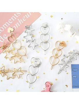 Eranso   Alloy Heart / Star Hair Clip by Eranso