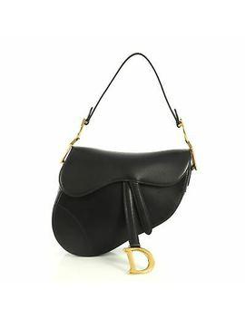 Christian Dior Saddle Handbag Leather Medium by Christian Dior