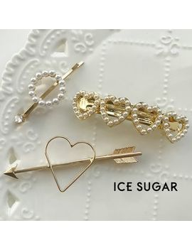 Ice Sugar   Faux Pearl / Heart / Arrow Hair Clip (Various Designs) by Ice Sugar
