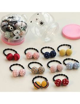 Caramella   Set Of 10: Fabric Ball Hair Tie by Caramella
