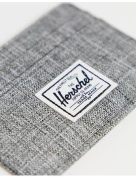 Herschel Supply Co Charlie Rfid Card Holder In Raven Crosshatch by Herschel Supply Co