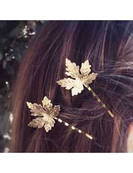 Ignar   Alloy Leaf Hair Pin by Ignar