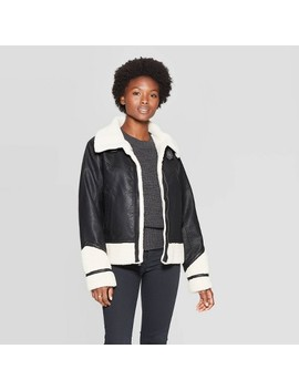 Women's Sherpa Moto Jacket   Universal Thread™ by Universal Thread