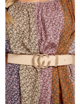 Double Vision Beige Belt by Bien Bien