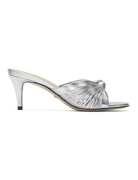 Silver Crawford Sandals by Gucci
