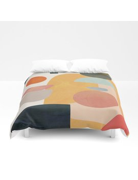 Modern Abstract Art 70 Duvet Cover by Society6