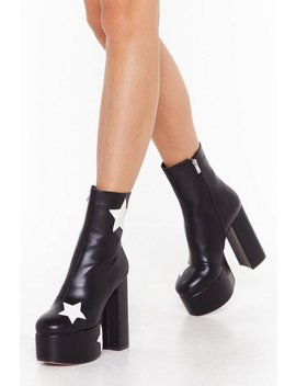 Get Up And Dance Platform Star Boots by Nasty Gal