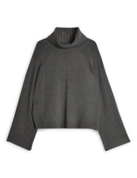 Super Soft Crop Roll Neck Sweater by Topshop