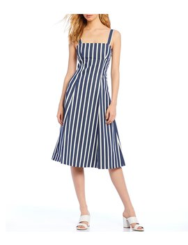 Abby Square Neck Stripe Dress by Gianni Bini