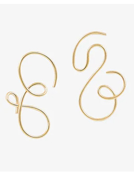 One Six Five Gold Contour Earrings by Express