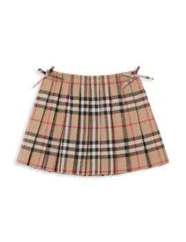 Baby's & Little Girl's Pleated Plaid Mini Skirt by Burberry