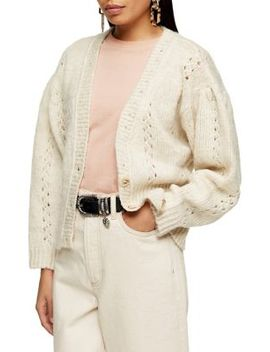 Knitted Pointelle Pretty Cardigan by Topshop