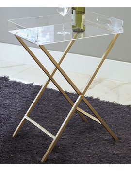 Clear &Amp; Gold Ervinville Side Table by Signature Design By Ashley Furniture