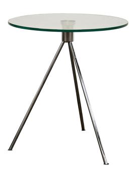 Glass Tripod End Table by Baxton Studio