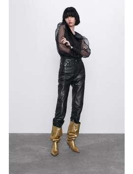 Peter Pan Collar Organza Blouse by Zara