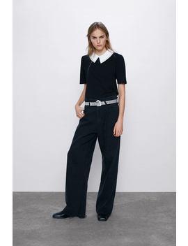 Camiseta Cuello Combinado by Zara