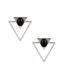 Triangle Earrings by Saint Laurent